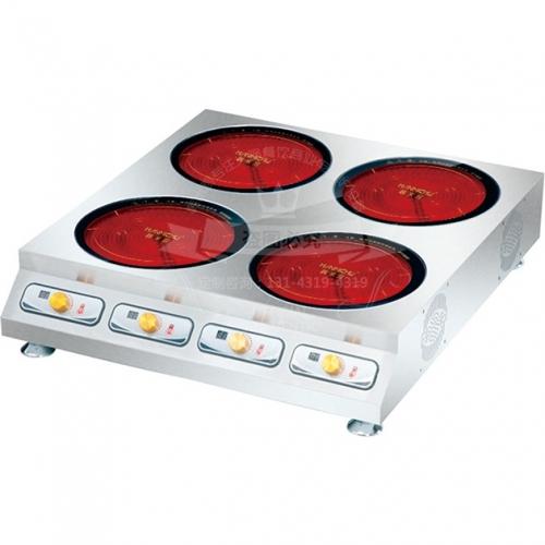 台式圆四头电陶煲仔炉